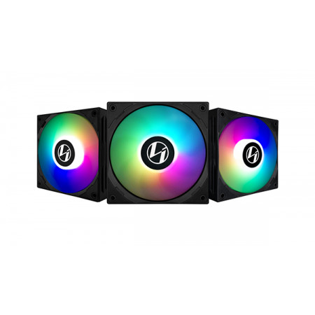 LIAN-LI Cooler 120mm ARGB ST120-3 Black - 3 Fan