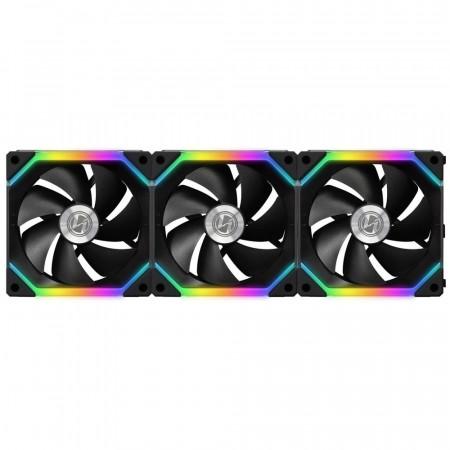 LIAN-LI Cooler 120mm SL120 UNI Black - 3 Fan