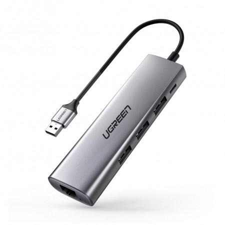 UGREEN 3-Port USB3.0+LAN with microUSB Optional Power CM266 Hub