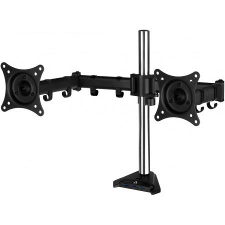 Arctic Z2 PRO Gen3 Desk Mount Dual Monitor Arm with USB HUB Black