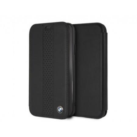 CG Mobile כיסוי ספר מעור אמיתי לאייפון XR בצבע שחור BMW רשמי