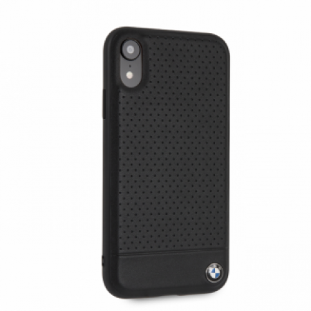 CG Mobile IPHONE XR BMW SIGNATURE Perforated Leather TPU/PC case Horizontal Smooth Black