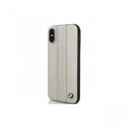 CG Mobile כיסוי מעור אמיתי לאייפון X/XS בצבע אפור-חום BMW רשמי