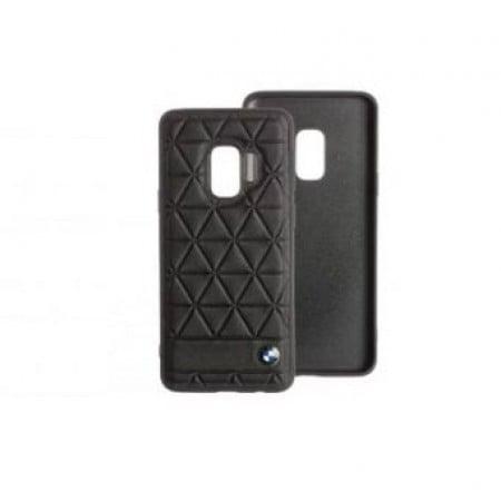CG Mobile כיסוי קשיח מעור אמיתי לסמסונג גלקסי S9 בצבע שחור BMW רשמי