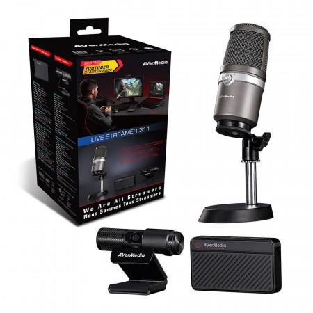 סט לסטרימר מצלמה, מיקרופון וכרטיס לכידה  Avermedia Streamer BO311