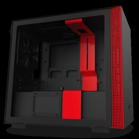 NZXT H210 Matte Black/Red