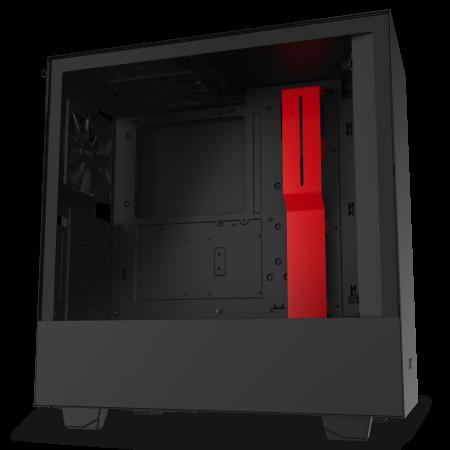 NZXT H510i Matte Black/Red