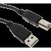 כבל USB2.0 A ל B למדפסת 1.8 מטר