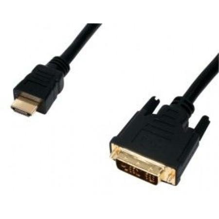 כבל HDMI ל DVI זהב 1.8 מטר