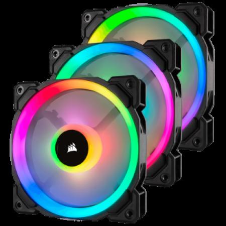 Corsair LL120 RGB 120mm Dual Light Loop RGB LED PWM 3 Fan Pack
