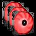 Corsair Air Series AF120 LED (2018) Red 120mm Fan 3 Pack