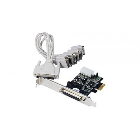 STLAB PCI-E Card RS232 4 Ports With Power for POS with Fan out cable (1 to 4) Low Profile Bracket