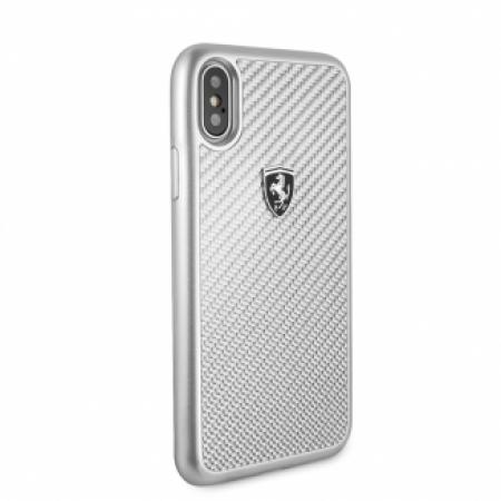 CG Mobile כיסוי קשיח מקרבון (פחמן) לאייפון XR בצבע כסוף פרארי רשמי