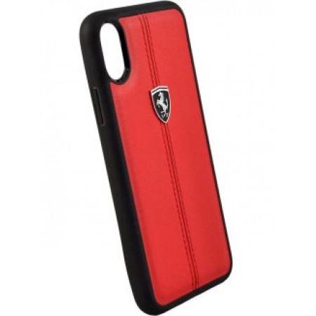 CG Mobile כיסוי קשיח מעור לאייפון X/XS בצבע אדום פרארי רשמי