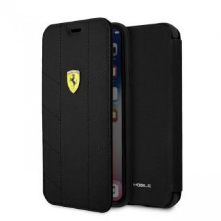 CG Mobile כיסוי ספר לאייפון X/XS בצבע שחור פרארי רשמי