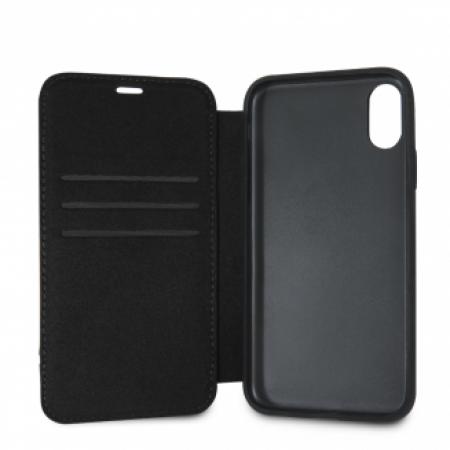 CG Mobile כיסוי ספר מעור לאייפון XS MAX בצבע שחור מרצדס רשמי