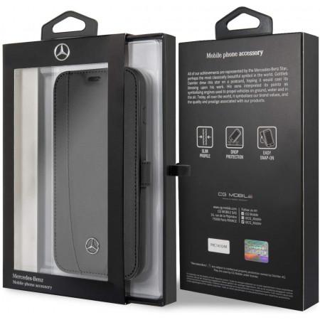 CG Mobile כיסוי ספר מעור אמיתי לגלקסי S10 בצבע שחור מרצדס רשמי