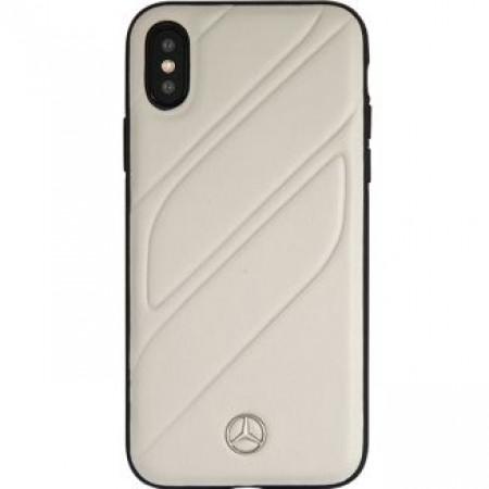 CG Mobile כיסוי קשיח מעור לאייפון XR בצבע אפור מרצדס רשמי