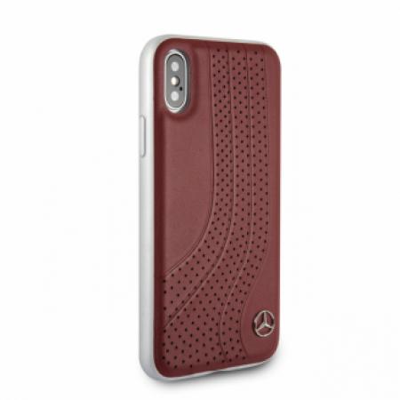 CG Mobile כיסוי קשיח מעור לאייפון X/XS בצבע חום מרצדס רשמי