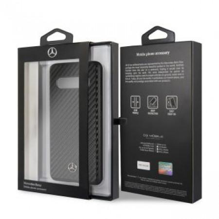 CG Mobile כיסוי קשיח מעור לגלקסי +S10 בצבע שחור מרצדס רשמי