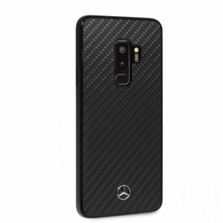CG Mobile כיסוי קשיח מקרבון (פחמן) לסמסונג גלקסי S9+ בצבע שחור מרצדס רשמי