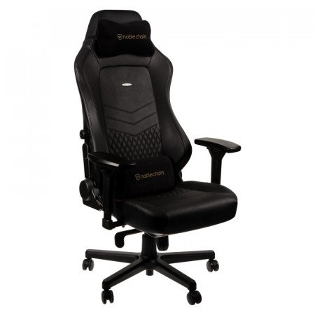 Noblechairs HERO Real Leather Gaming Chair Black עור אמיתי