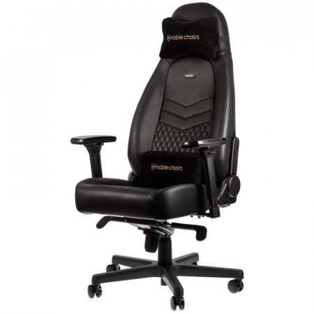 Noblechairs ICON Real Leather Gaming Chair Black עור אמיתי