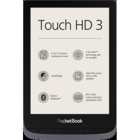 "Pocketbook 6"" Touch HD 3 Metallic Grey"