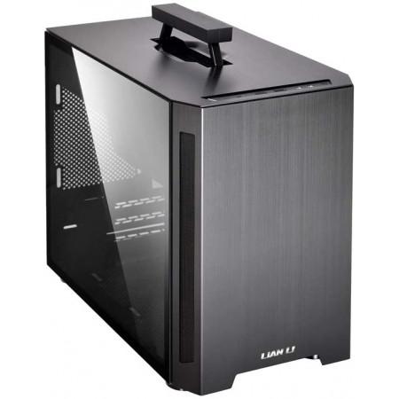 LIAN-LI Mini-ITX Case PC-TU150 Aluminum TG Black