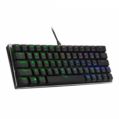 מקלדת למחשב גיימינג CoolerMaster SK620 Black Keyboard - Swith Brown