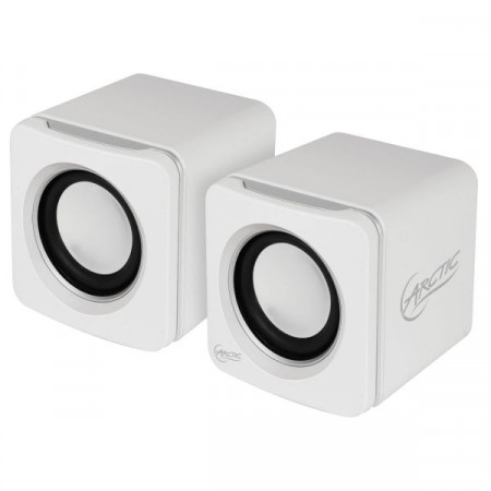 Arctic portable speakers S111M 4W (2X 2W RMS) with 2000mAH battery WHITE